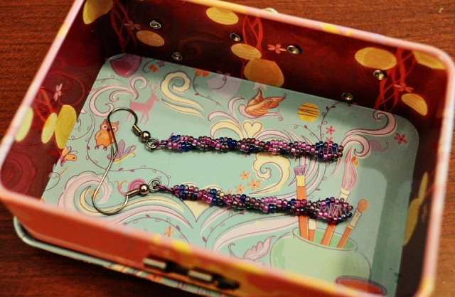 Twisted Bead Earrings