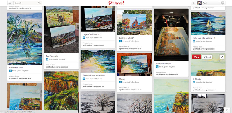 April's Paintings on Pinterest